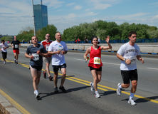 A group of marathon competitors during the 25th B Royalty Free Stock Photography
