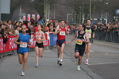 Group of marathon runners. Runners at the City Pier City Loop 2008 (half marathon). In the Hague royalty free stock photo