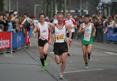 Group of marathon runners. Runners at the City Pier City Loop 2008 (half marathon). In the Hague royalty free stock image