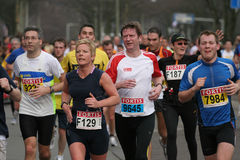 Group of marathon runners Royalty Free Stock Images