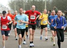 Group of marathon runners CPC2009. Group of marathon runners at the City Pier City Loop 2009, half marathon in the Hague stock photos