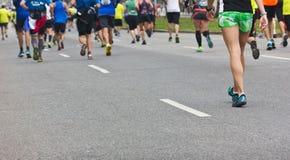 Group of Marathon Runners Stock Photos