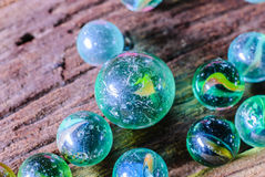 Group of marbles Royalty Free Stock Photo