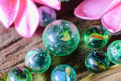 Group of marbles Royalty Free Stock Photos