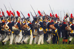 A group of marching men Royalty Free Stock Image