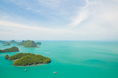 Group of Marine National Park the Angthong Islands Royalty Free Stock Photos