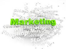 Group of Marketing related words Royalty Free Stock Images