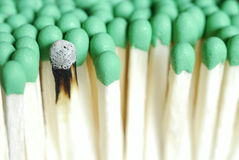 Group of matches, closeup Royalty Free Stock Image