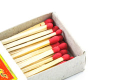 Group of matches isolated Royalty Free Stock Photography