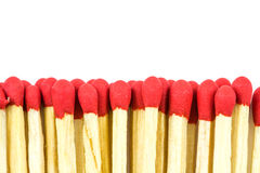 Group of matches isolated Stock Images