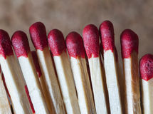 Group of matches Stock Photo