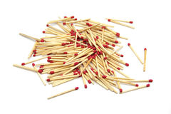 Group of matchstick. Match close up on white background Stock Photography