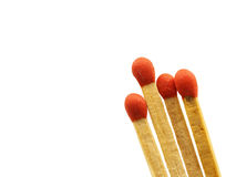 Group of matchstick closeup isolated Stock Image
