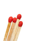 Group of matchstick closeup isolated Stock Images