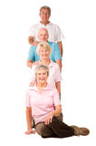 Group of mature exercise friends Royalty Free Stock Photo
