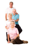 Group of mature exercise friends Stock Photo