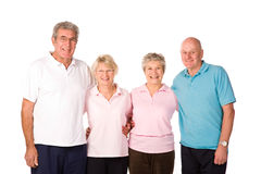 Group of mature exercise friends Stock Images