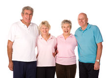 Group of mature exercise friends Royalty Free Stock Images