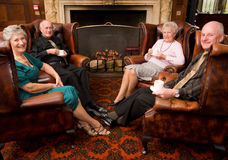 Group of mature senior friends Stock Photo