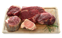 Group of meat for Pot-au-feu Royalty Free Stock Photo