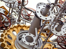 A group of mechanical parts Stock Image
