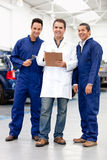 Group of mechanics Royalty Free Stock Photo