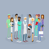 Group Medial Doctors Team Work With Leader Royalty Free Stock Images