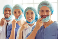 Group of medical doctors Stock Image