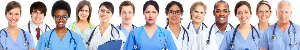 Group of medical doctors. Health care banner background Royalty Free Stock Photography