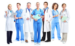 Group of medical doctors and nurses. royalty free stock images
