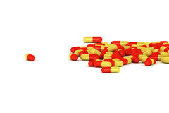 A Group of Medical Pills on a white background Royalty Free Stock Image