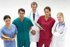 Group of medical professionals. Smiling stock image