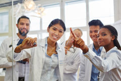 Group of medical school students Royalty Free Stock Images