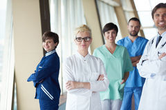 Group of medical staff at hospital. Doctors team standing together Stock Image