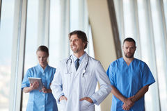 Group of medical staff at hospital. Doctors team standing together Royalty Free Stock Photos