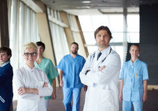 Group of medical staff at hospital. Doctors team standing together Royalty Free Stock Photo