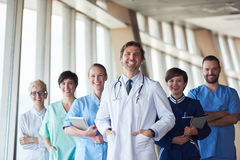 Group of medical staff at hospital. Doctors team standing together Stock Photos