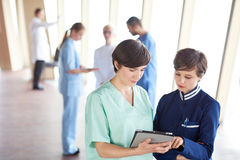 Group of medical staff at hospital. Doctors team standing together Stock Photography