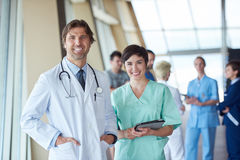 Group of medical staff at hospital. Doctors team standing together Royalty Free Stock Photography