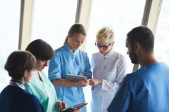 Group of medical staff at hospital. Doctors team standing together Royalty Free Stock Images
