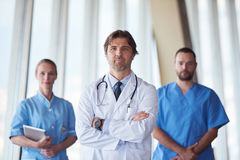 Group of medical staff at hospital. Doctors team standing together Royalty Free Stock Image
