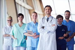 Group of medical staff at hospital Stock Photography