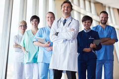 Group of medical staff at hospital Stock Images
