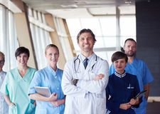 Group of medical staff at hospital Stock Image