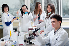 Group of medical students royalty free stock image