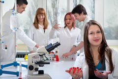 Group of medical students Royalty Free Stock Photo