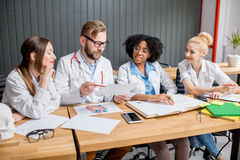 Group of medical students in the classroom Stock Images