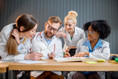 Group of medical students in the classroom Royalty Free Stock Image