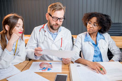 Group of medical students in the classroom Royalty Free Stock Images