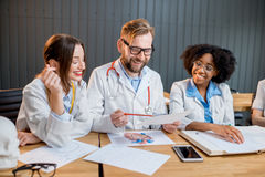 Group of medical students in the classroom Stock Photography